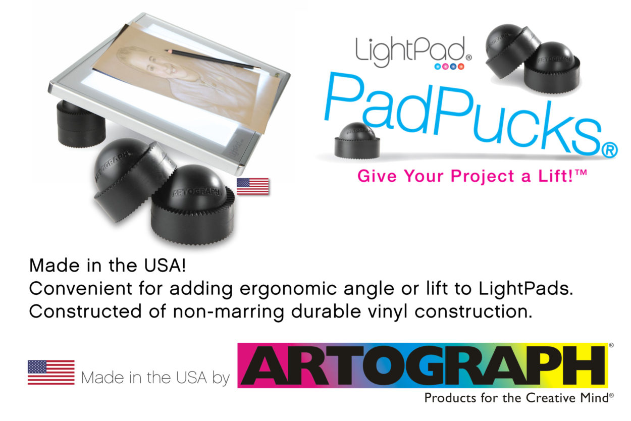 Artograph PadPucks to lift LightPad light boxes - Made in the USA