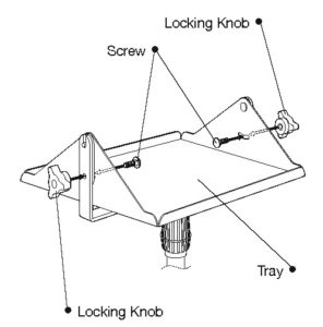 Mobile Floor Stand tray and Y bracket assembly