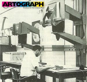 The Artograph Map-O-Graph projector being used by NASA to create maps of the lunar surface used in the moon landings.